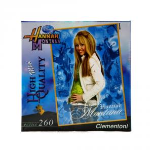 CLEMENTONI Puzzle 260 pezzi Mini Hannah Montana Blu Giocattolo