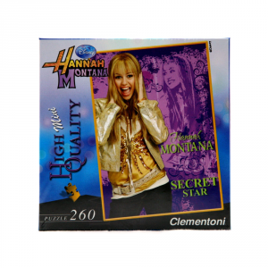 CLEMENTONI Puzzle 260 pezzi Mini Hannah Montana Viola Giocattolo