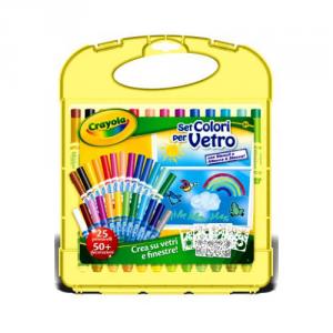 BINNEY & SMITH Crayola Set Colori Per Vetro Scuola Cartoleria