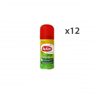 Set 12 AUTAN TROPICAL Spray Secco Antipuntura 100 Ml. Articoli per insetti
