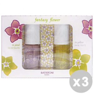 BATTISTONI Set 3 BATTISTONI Confezione regalo fantasy flower edt pink + yellow