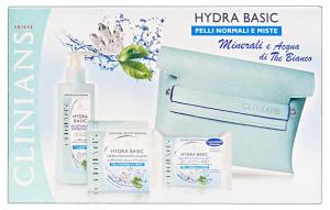 CLINIANS Idea regalo hydra basic pelli normali deterg+viso+salviette+pochette