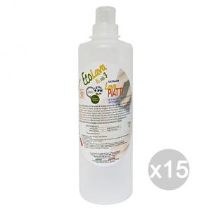 Set 15 ECOLAVO Piatti Aecps15 Detersivo Detergente Pulizia Della Casa
