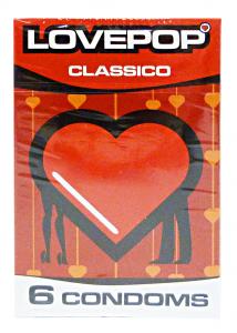 LOVEPOP Profilattici Classici 6 Pezzi Preservativi Anticoncezionali Condom