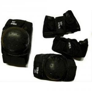 MY AREA Protezioni pattini skateboard set da 3 pezzi nero PR SR--nero