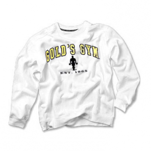 GOLDS GYM Felpa Gold's Gym Bianca abbigliamento sportivo e accessori fitness taglia S
