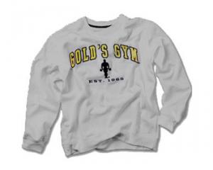 GOLDS GYM Felpa Gold's Gym Grigia abbigliamento sportivo e accessori fitness taglia S