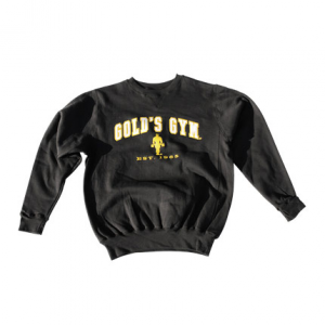 GOLDS GYM Felpa Gold's Gym Nera abbigliamento sportivo e accessori fitness taglia S