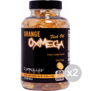 Set 2 CONTROLLED LABS Orange Oximega Fish Oil Formato: 120 tabs Integratori sportivi