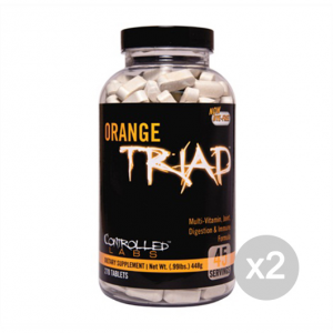 Set 2 CONTROLLED LABS Orange Triad Formato: 270 tabs Integratori sportivi, benessere