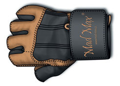 MAD MAX Professional Guanti taglia XXL marrone abbigliamento e accessori fitness