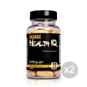 Set 2 CONTROLLED LABS Orange Health IQ Formato: 30 Tablets Integratori sportivi