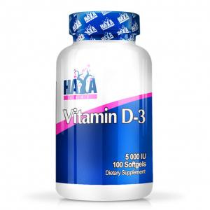 HAYA LABS Vitamin D-3 5000IU Formato: 100 Softgels Integratori sportivi