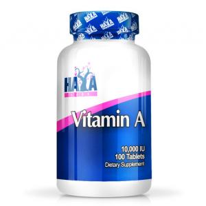 HAYA LABS Vitamin A 10000IU Formato: 100 Softgel Integratori sportivi, benessere