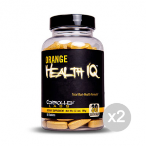 Set 2 CONTROLLED LABS Orange Health IQ Formato: 90 Tablets Integratori sportivi