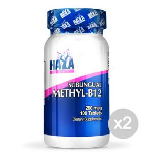 Set 2 HAYA LABS Methyl B12 Formato: 100 Tablets Integratori sportivi, benessere fisico