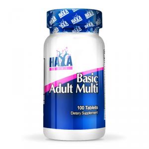 HAYA LABS Basic Adult Multi Formato: 100 Tablets Integratori sportivi, benessere