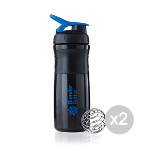 Set 2 BLENDERBOTTLE SportMixer® - Nero/Blu Formato: 760 ml Integratori sportivi