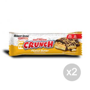 Set 2 FORTIFX Fit Elite Bar (Fit Crunch) gusto Peanut Butter Formato 88 g Integratori