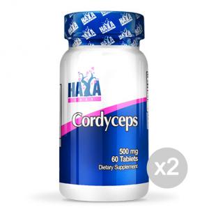 Set 2 HAYA LABS Cordyceps Formato: 60 Tablets Integratori sportivi, benessere fisico