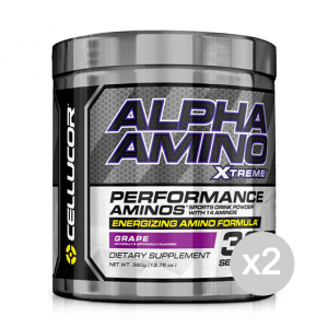 Set 2 CELLUCOR Alpha Amino Xtreme gusto: Fruit Punch Formato: 390 g. Integratori