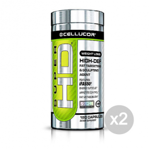 Set 2 CELLUCOR Super HD Formato: 120 capsule Integratori sportivi, benessere fisico