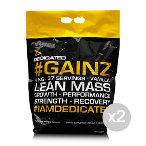 Set 2 DEDICATED Gainz gusto: Cioccolato Formato: 4000 g. Integratori sportivi
