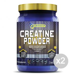 Set 2 EUROSUP Creatine Powder Formato: 300 g Integratori sportivi, benessere fisico