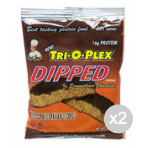 Set 2 CHEF JAY Trioplex DIPPED Cookie gusto: Peanut Butter Formato: 85 g Integratori