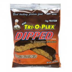 CHEF JAY Trioplex DIPPED Cookie gusto: Peanut Butter Formato: 85 g Integratori