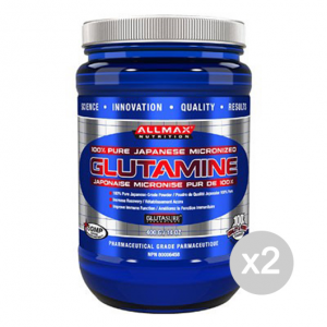 Set 2 ALLMAX Glutamine Formato: 400 g Integratori sportivi, benessere fisico
