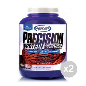 Set 2 GASPARI Precision Protein gusto: Gelato Alla Vaniglia Formato: 1810g Integratori