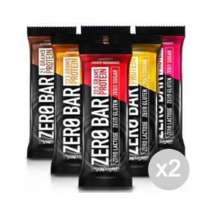 Set 2 BIOTECH Zero Bar gusto: Cioccolato Marzapane Formato: 50 g. Integratori sportivi