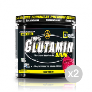 Set 2 ALL STARS 100% Glutamin Drink Formato: 400 g. Integratori sportivi, benessere