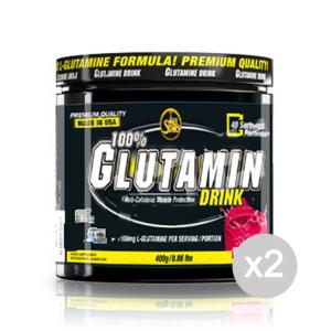 Set 2 ALL STARS 100% Glutamin Drink Formato: 400 g. Integratori sportivi, benessere