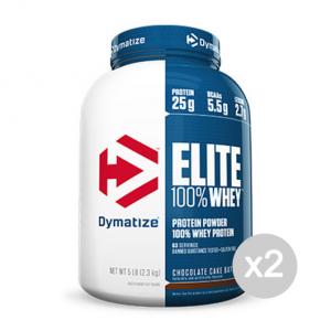 Set 2 DYMATIZE Elite 100% Whey Protein gusto: Banana Formato: 2100g Integratori