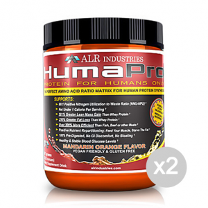 Set 2 ALR Humapro 90 servings gusto: Mandarin Orange Formato: 667 g Integratori