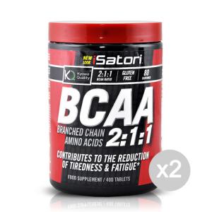 Set 2 ISATORI BCAA's Formato: 400 tab Integratori sportivi, benessere fisico