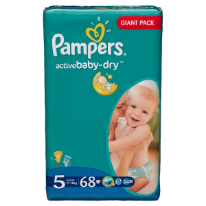 PAMPERS Set 2 Activebaby Pannolini Misura 5 Junior 11/18Kg 68Pz