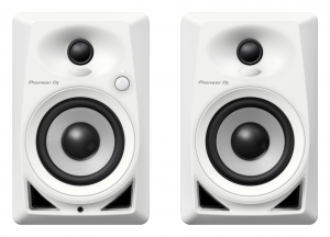 PIONEER DJ 4-inch compact active monitor casse speaker (Coppia) - Bianco