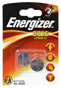ENERGIZER 3v 2016 pila X 2 pz. lithium - Pile e torce