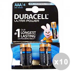 DURACELL Set 10 DURACELL Ultra power aaa ministilo * 4 pz. - pile e torce