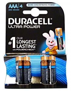 DURACELL Ultra power aaa ministilo * 4 pz. - pile e torce