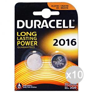 Set 10 DURACELL Specialistiche 2016 3 Volt 2 Pezzi Lithium Pile E Batterie