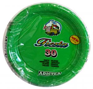 ARISTEA Piatti color.piani 30 pz. verde art.165205 - Articoli per pic-nic