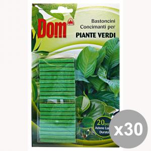 Set 30 DOM BASTONCINI CONCIMAnti Piante VERDI Giardinaggio