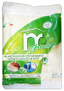 MARTINI Panno pavimenti 50x50 fibra bamboo green