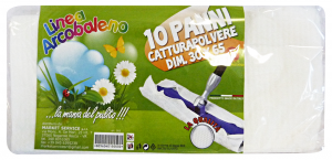 ARCOBALENO Panni Polvere 30x65 X 10 Pezzi Attrezzi Pulizie