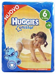 HUGGIES Unistar 6 15-30 kg.X16 pz. pannolini - Linea bimbo