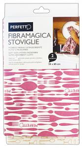 PERFETTO Panno fibramagica stoviglie 50x60 cm. * 2 pz.
